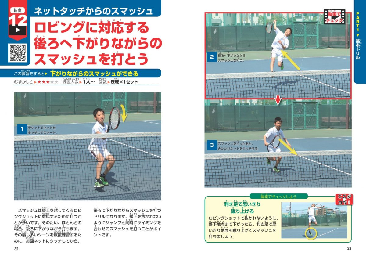 動画で差がつく!小学生のテニス 上達メソッド55