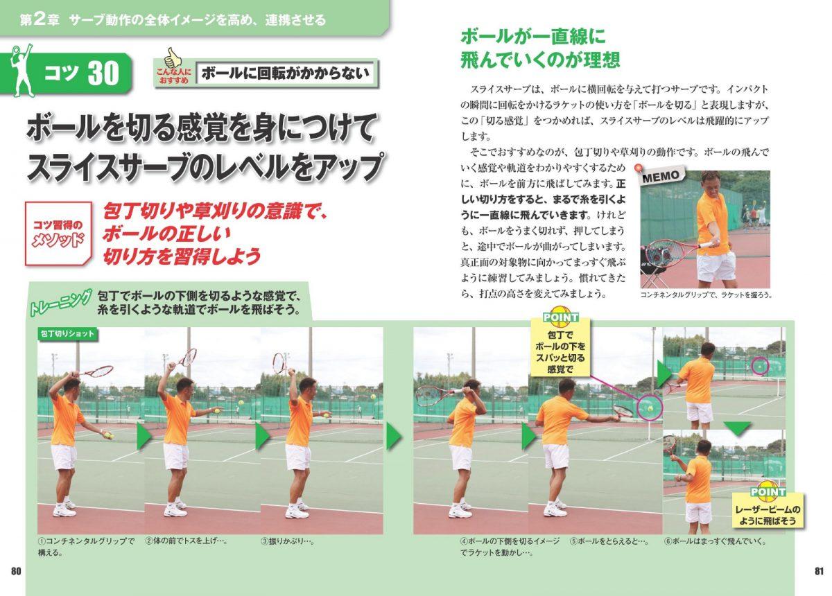 テニス サービス上達 完全バイブル 差がつくトレーニング